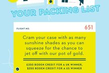Boden Pin your packing list / by Nicole Spalding Rutkowski