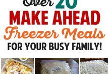 Freezer Batch Cooking Meals