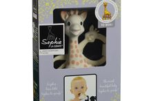 Ideas for a Teething Baby / Meet Sophie and the her friends from Vulli.  Sophie the giraffe is the only 100% natural rubber teething toy in the world. A huge hit worldwide, and is now available at www.littlestyles.com.au. Made by Vulli, a French company, Sophie has been in production for over 49 years and she still looks the same today as she did many years ago. Made from 100% natural rubber derived from the sap of the Hevea tree that grows in Malaysia, that is perfectly safe to chew.
