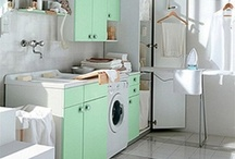 Laundry Room Lovin / Who knew laundry rooms could be so cute? Inspiration from Mercury Mosaics / by Mercury Mosaics