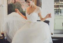Brides reception dress