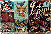 70 afiches de Pearl Jam / la historia de Pearl Jam en 70 afiches