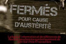 Mobilisation de Montréal le 17 novembre : fermés pour cause d'austérité / manifestation