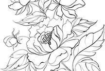 Blumenmalvorlagen