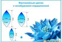 шаблоны и цветы фоамиран