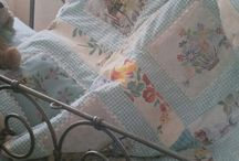 Patchwork with vintage linens / by Wendy 5