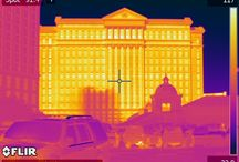 The Las Vegas Strip through an Infrared Camera / Using a FLIR thermal imaging camera for an interesting look at the Las Vegas Strip in a thermography study.