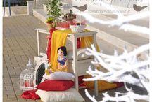 Snow white decoration christening