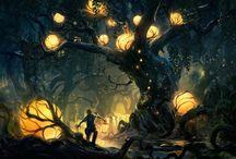 Dark Fantasy Environments / Dark Fantasy Art, Environments, Concepts, Atmosphere, Light.