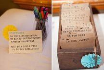 Receptions -- Guest Book Tables & Escort Cards