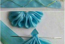 bordado con cintas