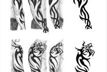 tribal tetovania na rameno