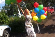 Доставка воздушных шариков / Надувка гелием или воздухом воздушных шариков, доставка по городу.
