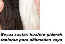 beyaz saç ićin