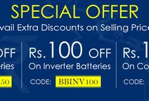BatteryBhai Coupons / BatteryBhai.com is one of its kind online platform. Featuring an exclusive range of Batteries and utility products for home and all industrial purposes like solar inverter, batteries, stabilizers etc. By using batterybhai coupons customer avail some extra discount on selling prices.