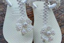 sandalias perlas