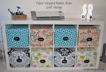 Craft Storage / Fabric storage crates