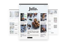 Julia — Food Blogging Theme / Julia is a food blogging theme for community builders who want to share their passion for cooking. https://pixelgrade.com/themes/blogging/julia/