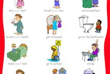 Daily routines and action verbs