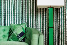 Sherwin Williams 'Organic Green' / A collection of inspiration images featuring the 2018 color trend, Sherwin Williams 'Organic Green'...