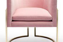 fotele pudrowy róż