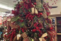 Beautiful Christmas trees and decorations