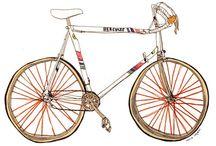 Illustration : : random objects / Illustrations of random objects: bikes, furniture, etc.
