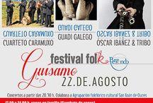 Festival Folk Guísamo 2015 (22 de agosto, XVI edición) / Actividades e concertos no Festival Folk Guísamo do ano 2015