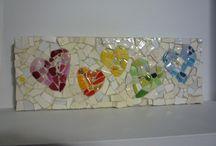 Eggshell hearts / Art