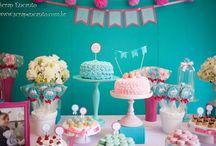 Festa azul Tiffany e rosa