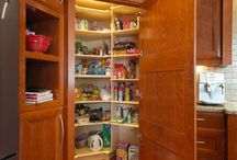 Pantry Storage / The pantry is an important part of your kitchen. It is where most of your food storage will be. There are many different styles of pantries, including walk-in, pull out shelves, etc. They style of your pantry will depend on the amount of space you have available along with what type of food you store.