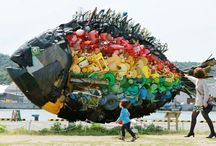 Eco art / Ecology sculptur, art, paint