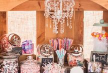 Wedding Candy & Dessert Tables / Not a cake fan? Here are some great ideas to personalized your wedding dessert table and your guest's sweet tooth.