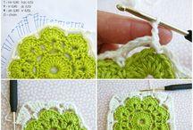 rosetas em lã