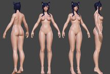 3D персонажи (Т-поза)