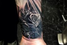 tattoo ideas / Any ideas are much appreciated, looking to get a tattoo from my elbow down with the a pocket watch / clock, Greek mythology, clouds and roses intertwined