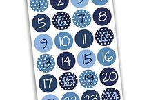 Adventskalender Zahlen Aufkleber und Papiertüten - auf Amazon / Adventskalender Zahlen und Papiertüten zum selber basteln und befüllen.