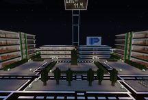 Minecraft fiktivní město / můj projekt v minecraftu