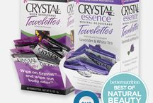 Crystal Towelettes / An convenient way to take the power of Crystal Body Deodorant or Crystal essence with you wherever you go!