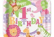 1st Girl Birthday / 1st Girl Birthday - Artigos Para Festas de Aniversário