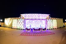 Reception / The decor was all about Kalamkari work & floral!!