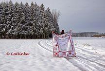 Winter Wonderland Quilt made with love by Cattinka