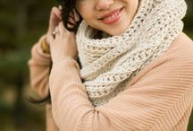 Crochet cowls and scarves and ponchos