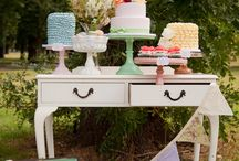 Girly nature dessert table