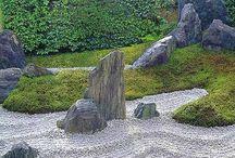 сад камни