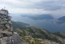 Mountain hiking in Norway