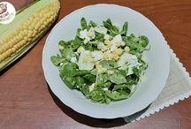 Sałatka ze świeżą kukurydzą
