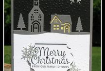 2017 Holiday Catalog / 2017 Stampin' Up! Holiday Catalog samples that i have created using Hometown Greetings, Snowflake Sentiments, Christmas Lamppost