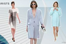 S/S 2015 Trends No. 3: Purists / Clean, modern… uniforms for the contemporary career woman… shades of '90s minimalism…space age metallics and shine… comfort chic clinical whites… boxy and architectural shapes. (Spring/Summer 2015 Trends No. 3: Purists)  http://www.colourandtrends.com/