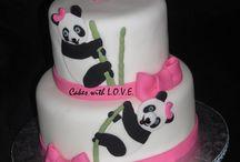 Panda şeklinde tatlılar